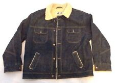 Old Navy Western trucker Lined Denim Jacket XL Button front Up Front Pockets