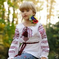 Ukrainian handmade embroidered shirt for girl, folk blouse, sorochka, vyshyvanka