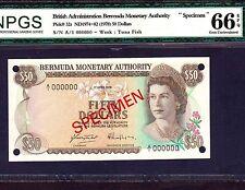 Bermuda 50 Dollars 1978 P-32s * Specimen * Gem Unc 66 EPQ *