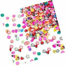 1500 Pieces Fruit Slices Fruit Nail Art Slice Decorations Clay 3D