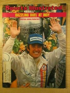 SPORTS ILLUSTRATED INDY 500, JUN 3,1974 G+ JOHNNY RUTHERFORD