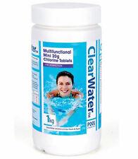 Clearwater Multifonction CH0019 Comprimés 1 kg 3in1 de chlore, algecide & Clarificateur