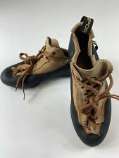 La Sportiva Mythos Lace Us 8.5 Eu 40 Women's Caving Climbing Tan Brown Shoes