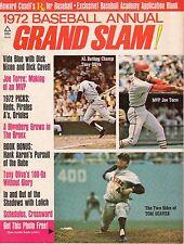 1972 Grand Slam Baseball magazine, Tom Seaver, New York Mets, Joe Torre ~ VG