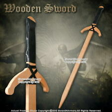 """37"""" Wooden Medieval Arming Sword  Plywood Design for Cosplay Reenactment"""