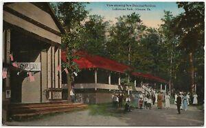 New Dancing Pavilion, Lakemont Park, Altoona PA Postcard Amusement Park