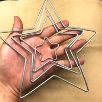 Welded Metal Ring Heart Star Craft Hoop DIY Parts AU
