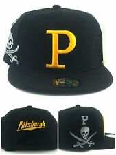 Pittsburgh New Top Pro Jumbo Pirates Black Gold Jolly Roger Era Snapback Hat Cap