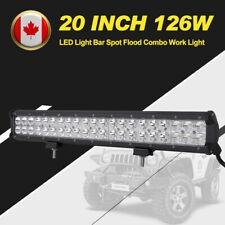 126W LED Light Bar 20Inch Spot Flood Beam Work Light Auxiliary Driving Light