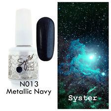SYSTER 15ml Nail Art Soak Off Color UV Lamp Gel Polish N013 - Metallic Navy