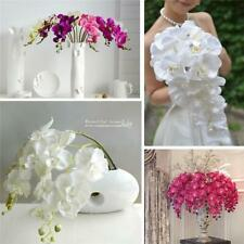 Artificial Fake Silk Flower Phalaenopsis Butterfly Orchid Home Decor JA
