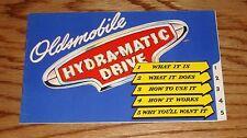 Original 1946 Oldsmobile Hydra-Matic Drive Sales Brochure 46