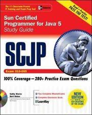 SCJP SUN CERTIFIED PROGRAMMER FOR JAVA 5 STUDY GUIDE (EXAM By Bert Bates *Mint*