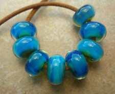 5FISH ~ Handmade Lampwork Boro Borosilcate Spacer Beads ~ Icy Winds