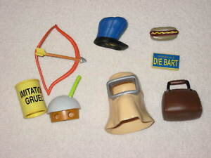 Playmates WOS Simpsons Misc. Accessories Lot for World of Springfield Figures