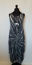 "NEW TIE DYE LaGeNLooK print pointed sides 42"" boho DRESS soft viscose fits:12-20"