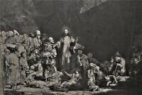 GRAVURE-REMBRANDT-LA PIECE AUX CENT FLORINS-EVANGILE-CHRIST-RELIGION-
