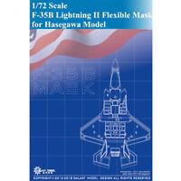 Galaxy D72001 1/72 Scale F-35B Lightning II Die-Cut Flexible Mask for Hasegawa