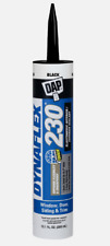 DAP DYNAFLEX 230 BLACK Silicone Door Trim Window Siding Sealant 10.1oz 18280 NEW