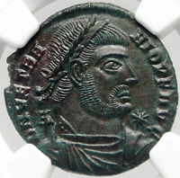 VETRANIO Ancient Roman Coin CONSTANTINE the Great CHRISTIAN  VISION NGC i83545