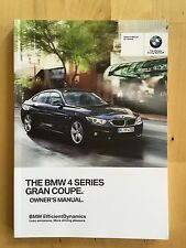 New BMW Owner's Manual 4 Series Gran Coupe 428, 435 X-Drive 2014-17