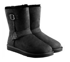 Kirkland Signature™ Ladies' Shearling Buckle Boot-Black 7