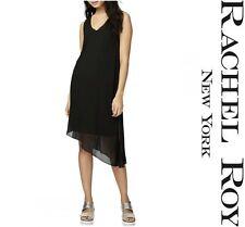 RACHEL ROY CHIC  SCOOP NECK  SHEER  ASYMMETRICAL  SHIFT  DRESS Sz M  NWT  $ 109
