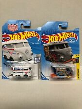 2019 Hot Wheels Kool Kombi Magnus Walker White & 2018 Grey