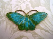 Large Verdigris Patina Brass Butterfly Stamping (1) - VPS3104