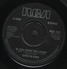 """EVELYN KING if you want my lovin'/long time waiting on you RCA 131 uk 7"""" WS EX/"""
