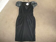 RIVER ISLAND BLACK DRESS SIZE 10 BNWT RRP £89.99 PARTY/EVENING/SPECIAL OCCASION