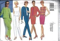 4510 UNCUT Butterick SEWING Pattern Misses Jacket Top Skirt Pants Vintage