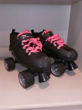 Pacer Gtx 500 Girls Youth Quad Roller Skates White & Pink Size 4 Ret.$84.99