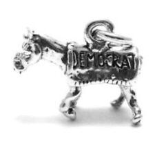 925 Sterling Silver 3D Democrat Donkey Charm