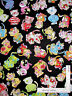 Loralie Calico Cats Kitty Cat Toss Black Cotton Fabric Loralie Harris  - Yard