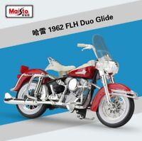 1:18 Maisto Harley Davidson 1962 FLH DUO GLIDE Bike Motorcycle Model Red New