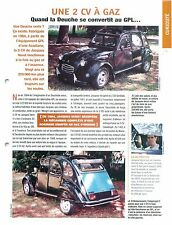 Citroën 2 CV à Gaz GPL & Essence Jacques Verot  1984 Car Auto FICHE FRANCE