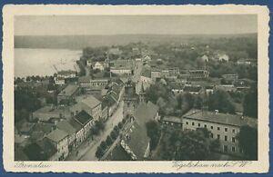 Prenzlau Vogelschau nach Südwesten Mitteltor Uckersee, gelaufen 1940 (AK3928)