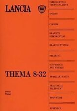 LANCIA Thema 8.32 Car Shop manual Ferrari 3.2 engine Catalogue Book Paper