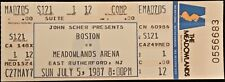*** BOSTON *** - UNUSED COMPLIMENTARY CONCERT TICKET - 1987 - Meadowlands Arena