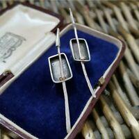 Vintage Native American Sterling Silver Earrings, SABIN CHAVEZ, Arrows SMC 1997