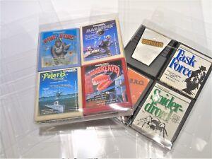 10 Atari 2600 Video Game Clear Case Cases Sleeve Box Protector Protectors CIB