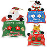 Wooden Advent Days Til Christmas Countdown Hanging Plaque Santa Snowman Reindeer
