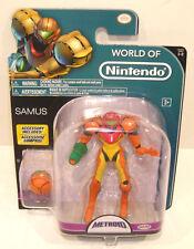 World of Nintendo SAMUS Action Figure SEALED Jakks Pacific 4.5 Inch 1-2 Metroid