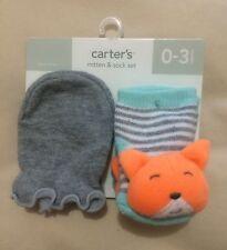 Nwt Carter's Mitten & Sock Set Newborn Boys