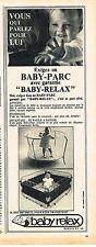 PUBLICITE ADVERTISING 045  1964  BABY-RELAX  le parc pour bébé