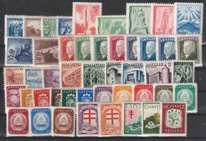LATVIA 1930-1940 Selection of 47 Unused stamps