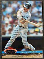 MINT 1991 TOPPS STADIUM CLUB # 21 DON MATTINGLY NEW YORK YANKEES Baseball Card