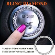 Bling Diamond Suv Car Start Engine Ignition Button Decor Ring Cover Sticker Trim