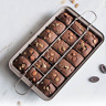 Non Stick Brownie Pans with Dividers, High Carbon Steel Baking Pan, Makes 18 pcs